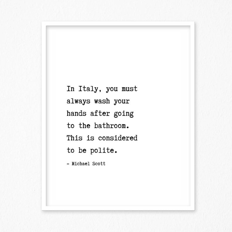 In Italy You Must Always Wash Your Hands After Going To The Etsy In 2020 Online Printing Companies Wash Your Hands Bathroom Prints