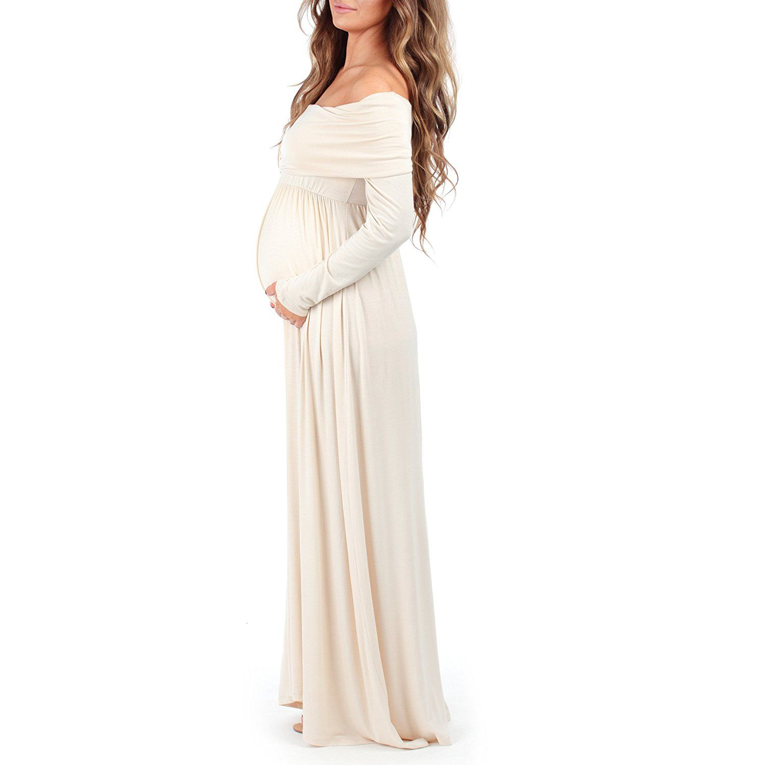 7e17cd308dd57 Women Mother Bee Womens Cowl Neck and Over The Shoulder Ruched Maternity  and Nursing Dress by