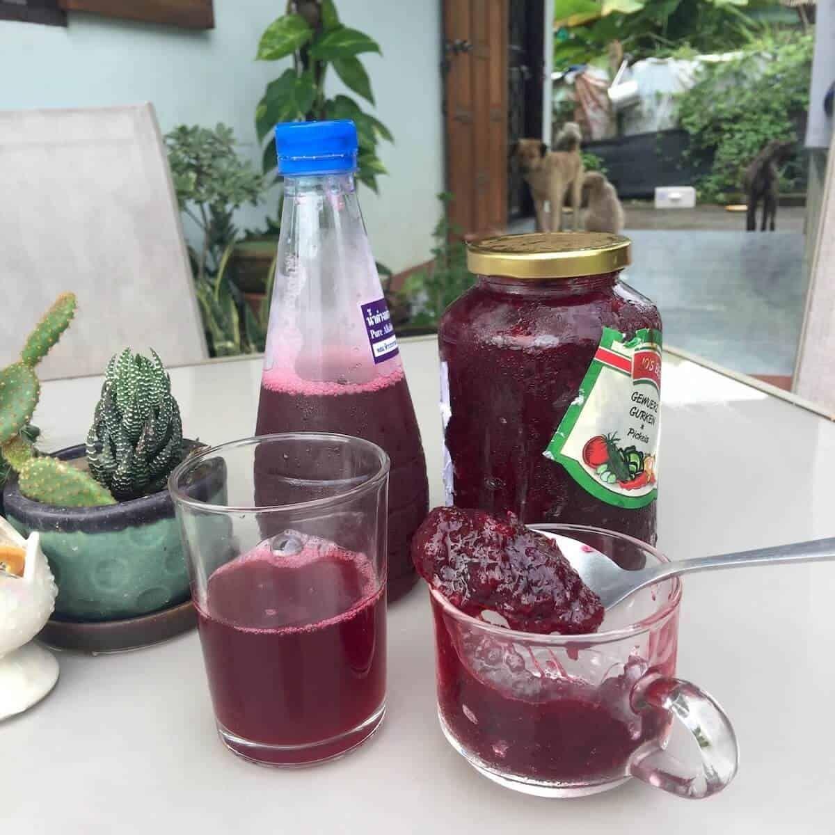 Rosella Jam Recipe From Hibiscus Flowers Sprouting Fam Recipe In 2020 Roselle Juice Jam Recipes Juicing Recipes