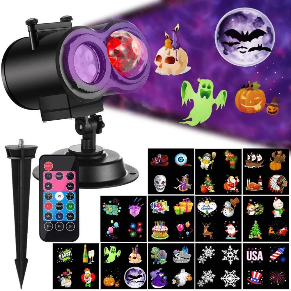 Halloween Christmas Projector 2in1 LED Waterproof