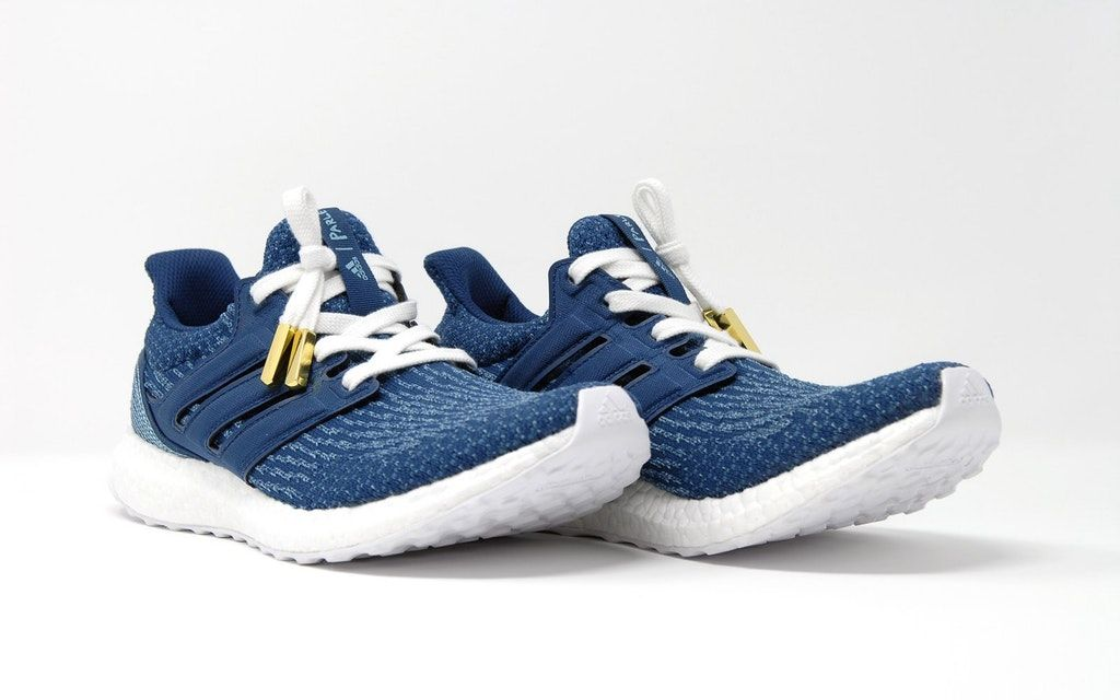 05e5ec65f Ultra Boost Parley white laces gold aglet factory lace deadstock knot