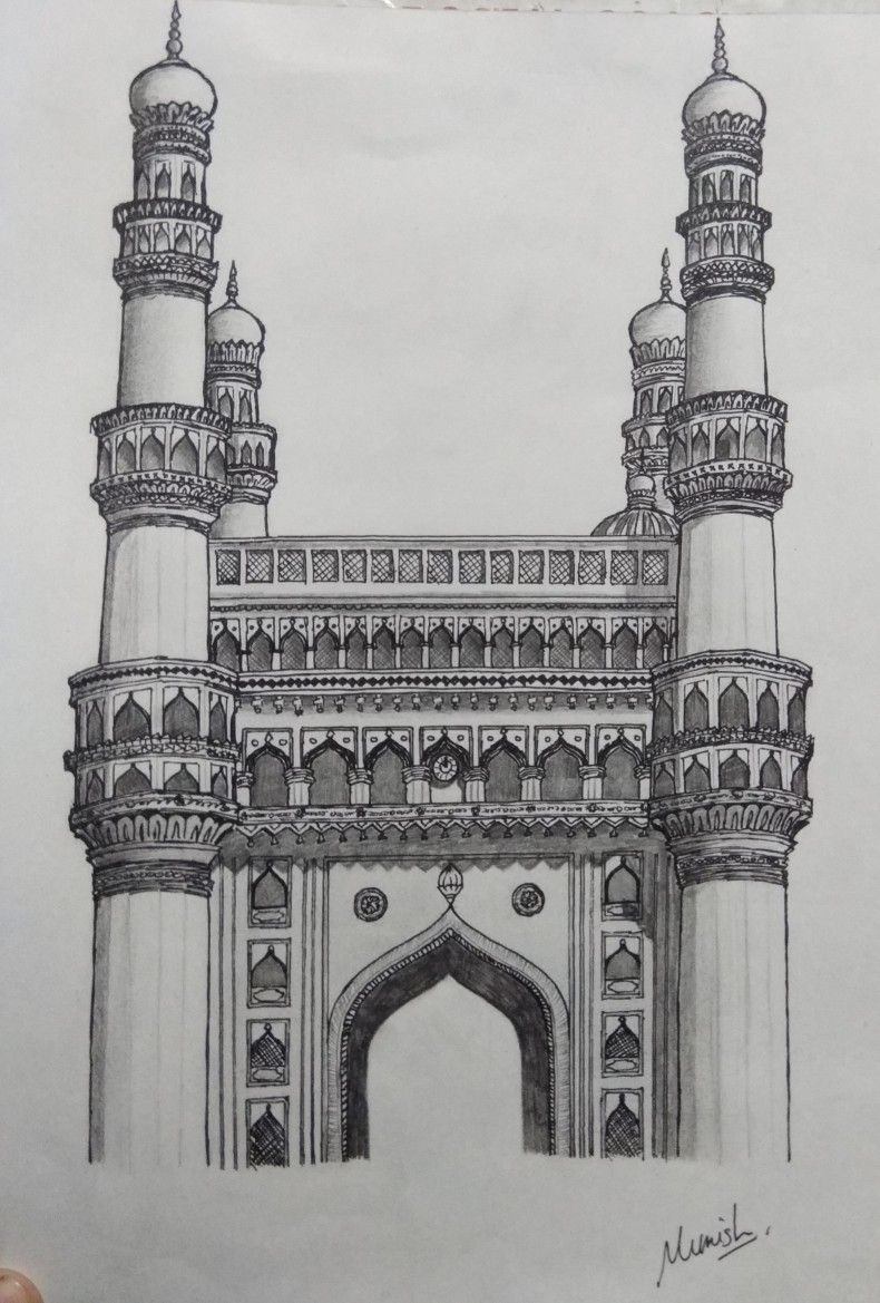 Taj Mahal By Keshava Shukla With Images Taj Mahal Drawing Taj