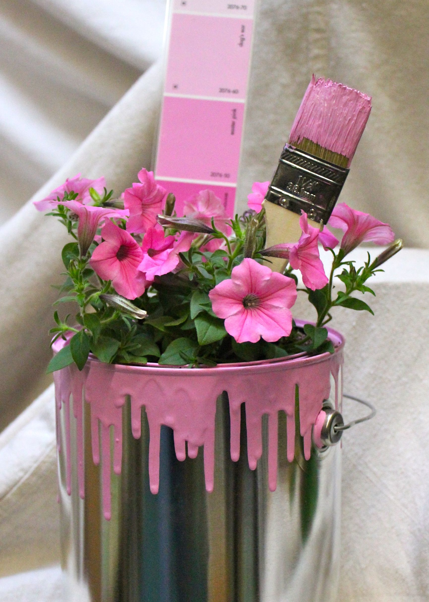 Paint Can Display Pink