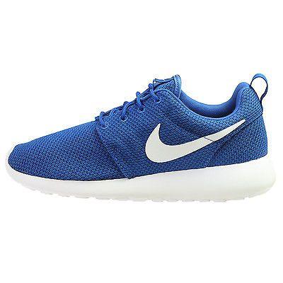new style 2b607 f09b5 Nike Roshe One Mens 511881-416 Royal Blue White Rosherun Running Shoes Size  9.5