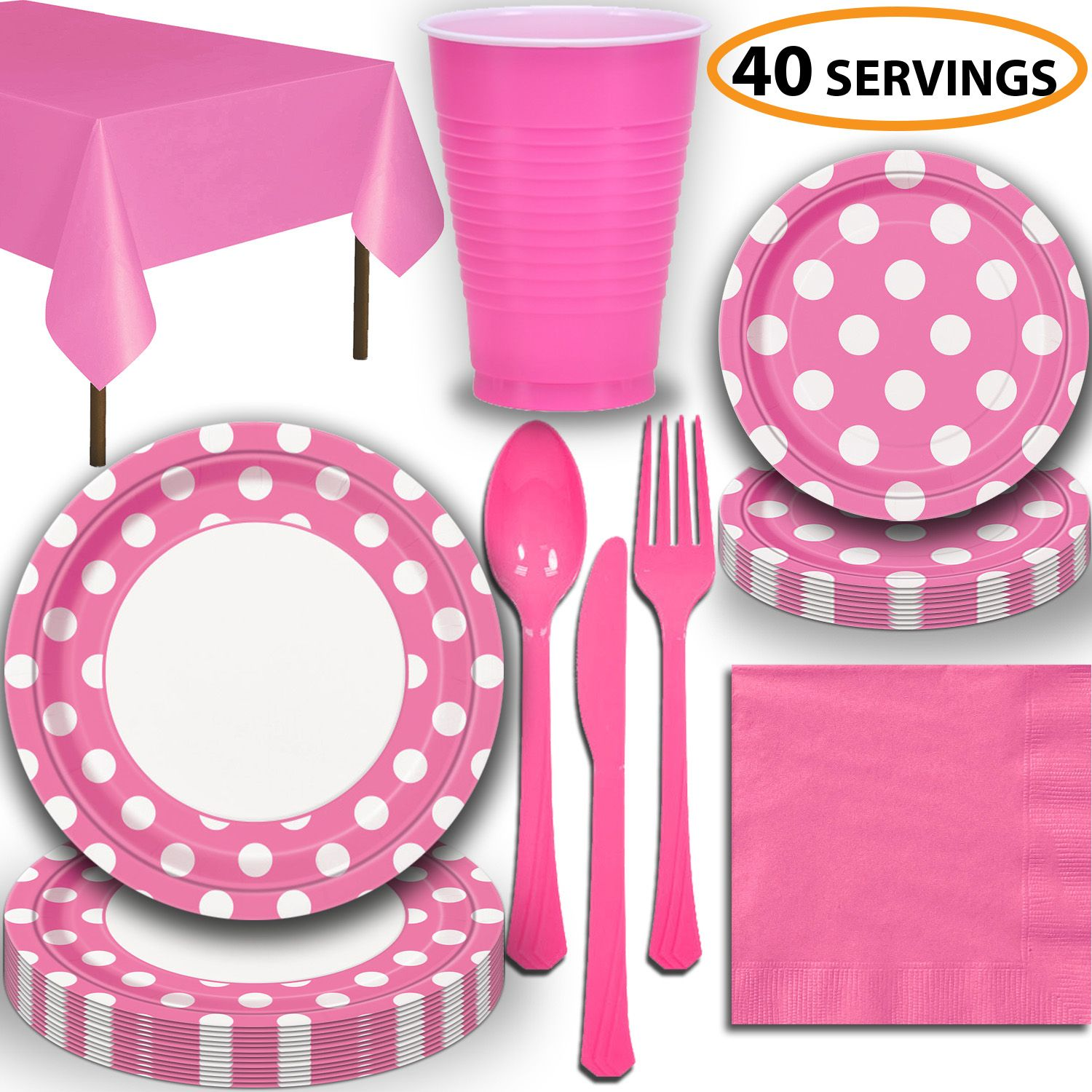 PAPER NAPKINS~PAPER PLATES~PAPER CUPS~PLASTIC TABLE CLOTH COVER TABLECOVER