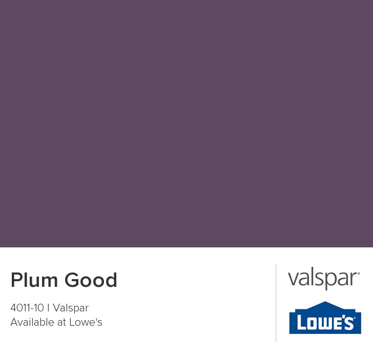 colores de pintura valspar para cocina Valspar Paint Color Chip Plum Good Guest Bedroom