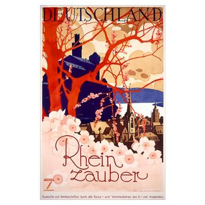 Rhein zauber, Deutchland, Vintage Poster, by Ludwi Poster  $18.00 http://paradiseinternetmall.net/