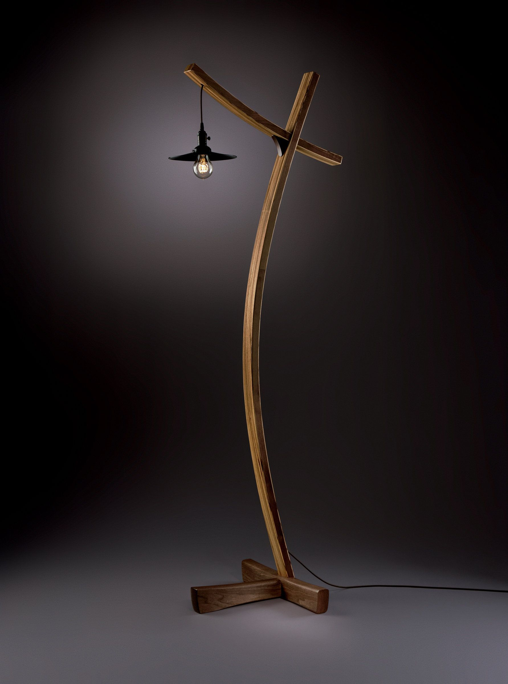 Aglow by brian hubel wood floor lamp wood grain bulbs and woods aglow by brian hubel wood floor lamp aloadofball Image collections