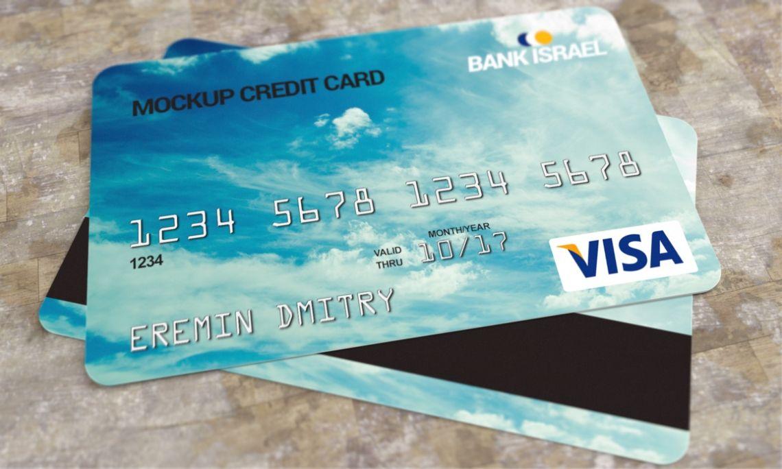 Credit card mockup psd pixsector free vector images