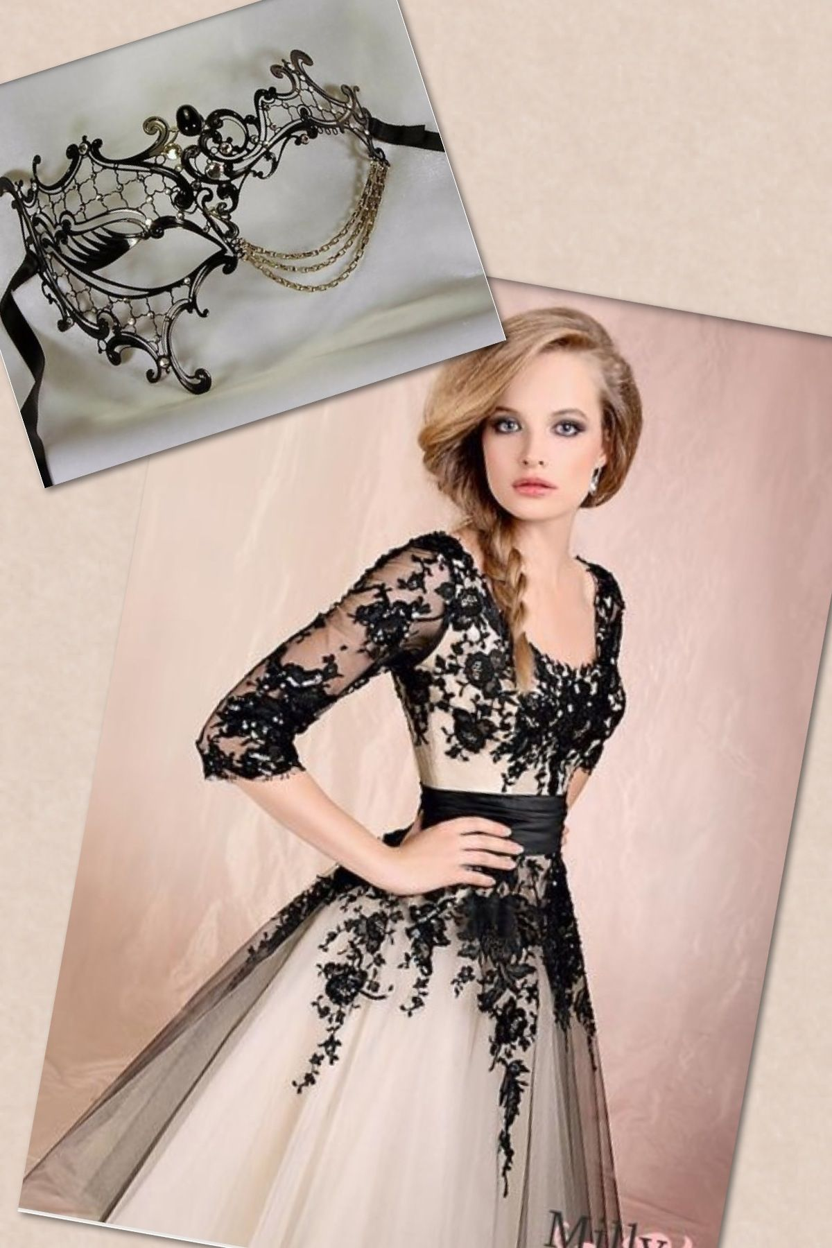 Perfect elegant mask to wear with this dress To a ball | Glamour me ...
