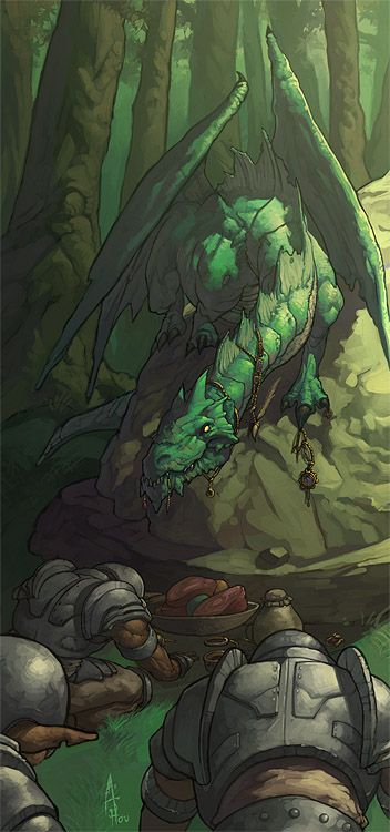 Green Dragon by *nJoo on deviantART