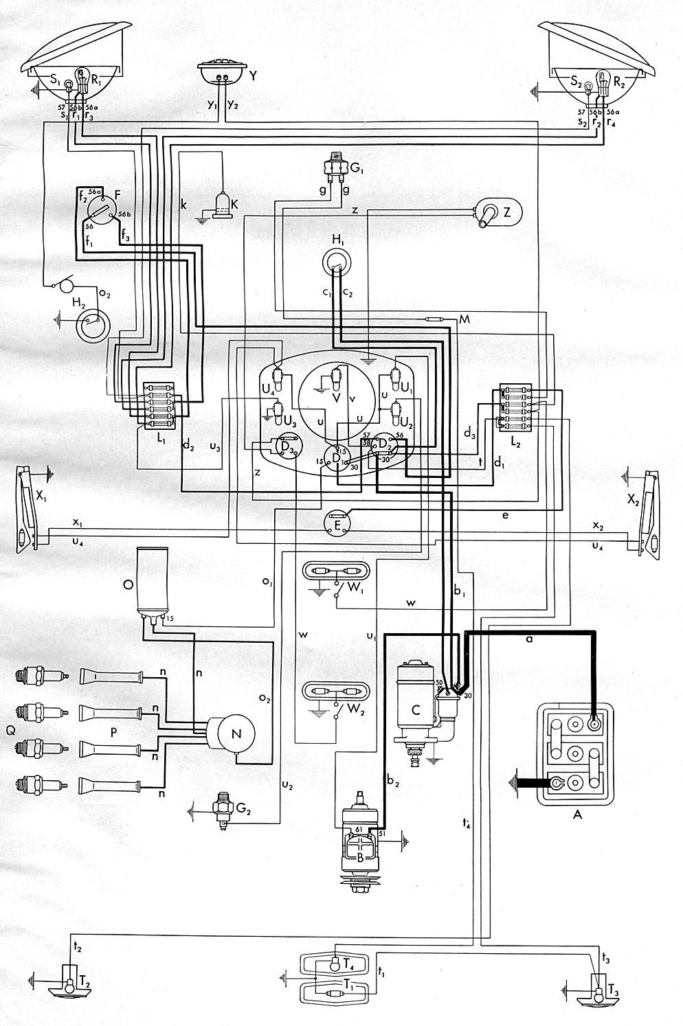 Thesambacom Type 2 Wiring Diagrams  Thesamba Type 1 Wiring