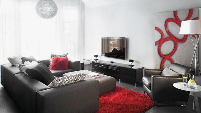 Inspiration Ambiance Salon Gris Et Rouge Deco Maison Newsindo Deco