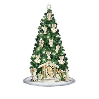 Emerald Elegance Pre Lit Nativity Christmas Tree Tis That Time