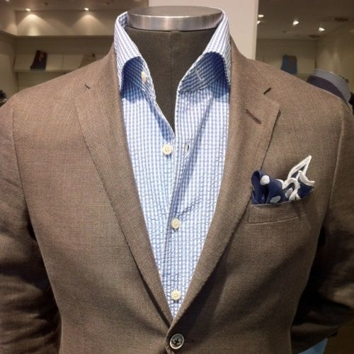 Blue and brown combo