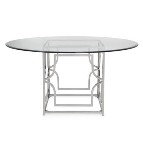 abigail dining table from z gallerie 60 d 799 coudl pair nicely with upholstered chairs also comes in 54 r