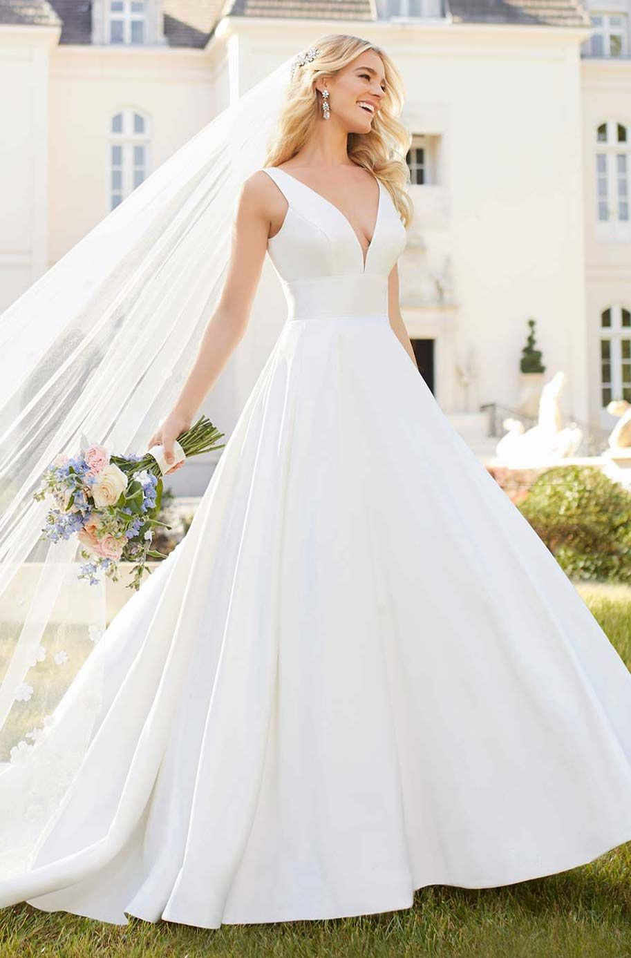 3acc0f49b8562 Stella York wedding dress 6758. Simplicity at its best. Made of matte Mikado  fabric