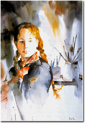 French artist Maryse De May \\ watercolor