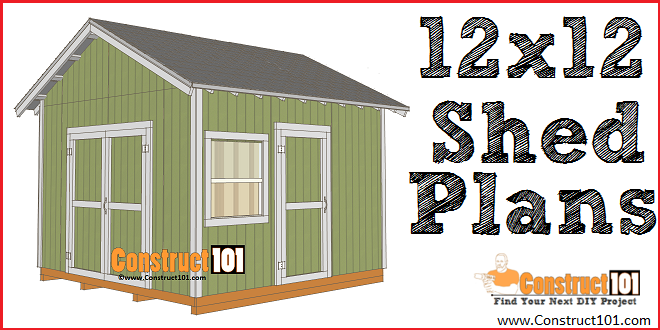 12x12 Shed Plans Gable Shed Construct101 Diy Shed Plans Shed Plans Shed Plans 12x16