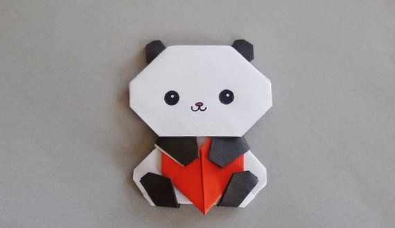 Building & Construction Toys Seated Paper Panda Model Toys 3d Diy Material Manual Creative Party Show Props Lovely Tide Decorate Panda Image Gift For Kids