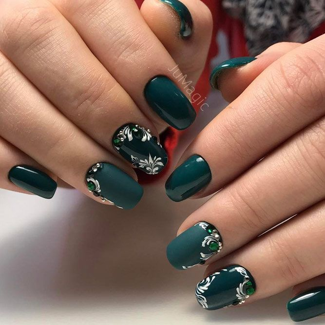 36 Fresh Green Nails Ideas To Get This Season Nails Pinterest