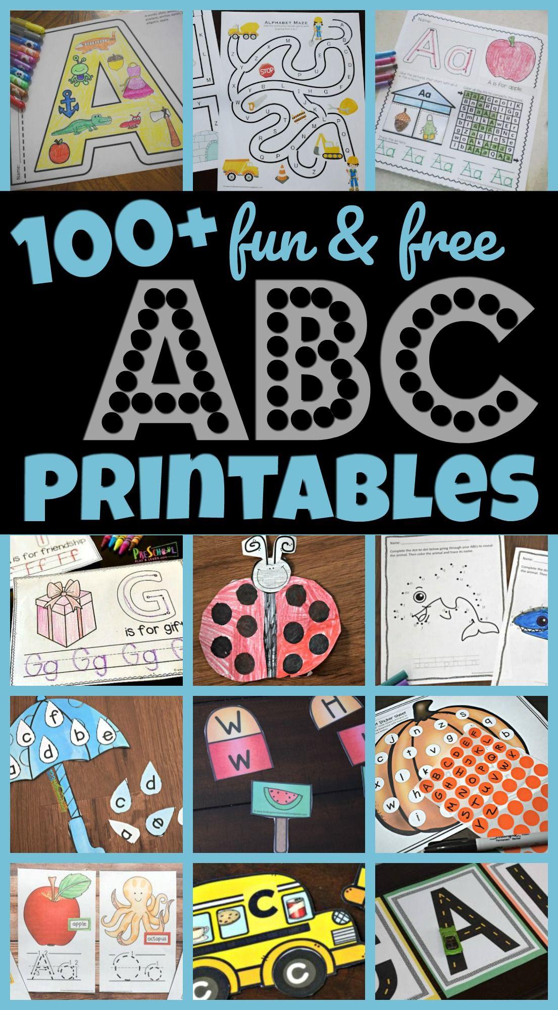 100 Free Alphabet Printables In
