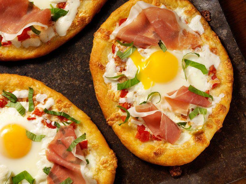 Mini Pizzas De Huevo Para Desayunar Receta Pizza De Huevo Recetas De Mini Pizza Mini Pizzas