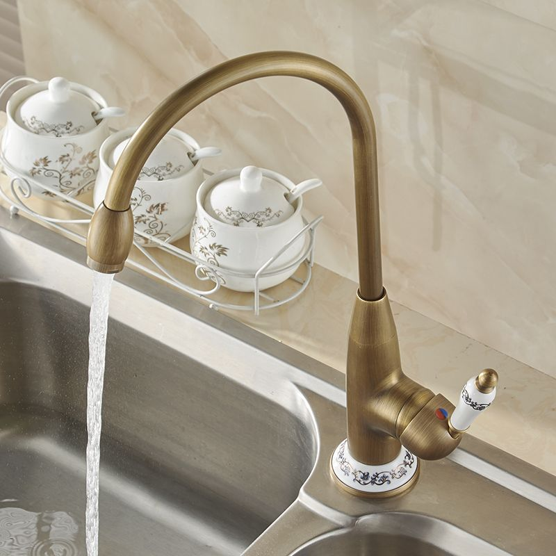 Found The Perfectly Aged Brass Kitchen Faucet With Images