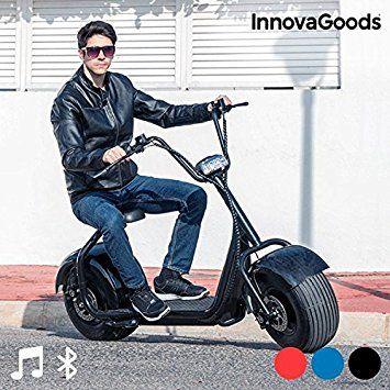 scooter trottinette lectrique adulte chopper innovagoods gadjet techs bleu jeux de plein. Black Bedroom Furniture Sets. Home Design Ideas