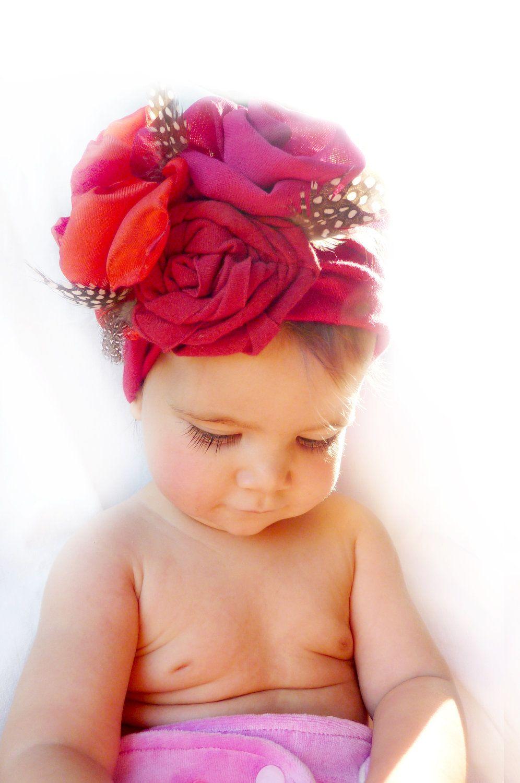 Baby Girl Bandana Turban Headband.  38.00 361bdccf651