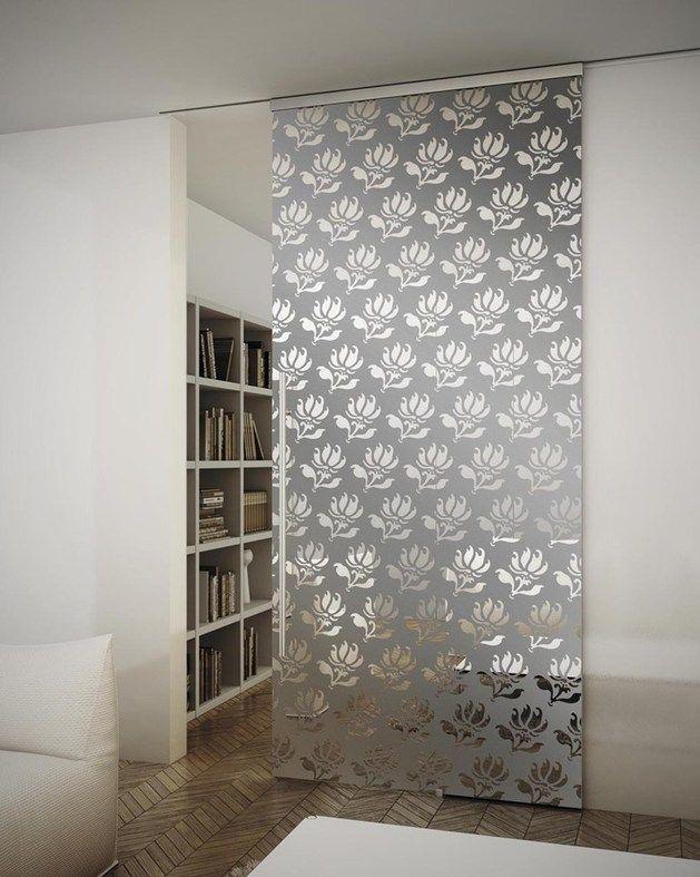 Puertas divisorias puerta sal n cocina pinterest for Muri interni decorati