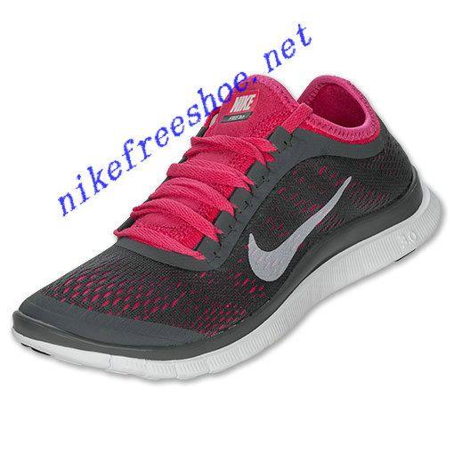 Nike Free 3.0 V5 Womens Dark Grey White Pink Force 580392 016