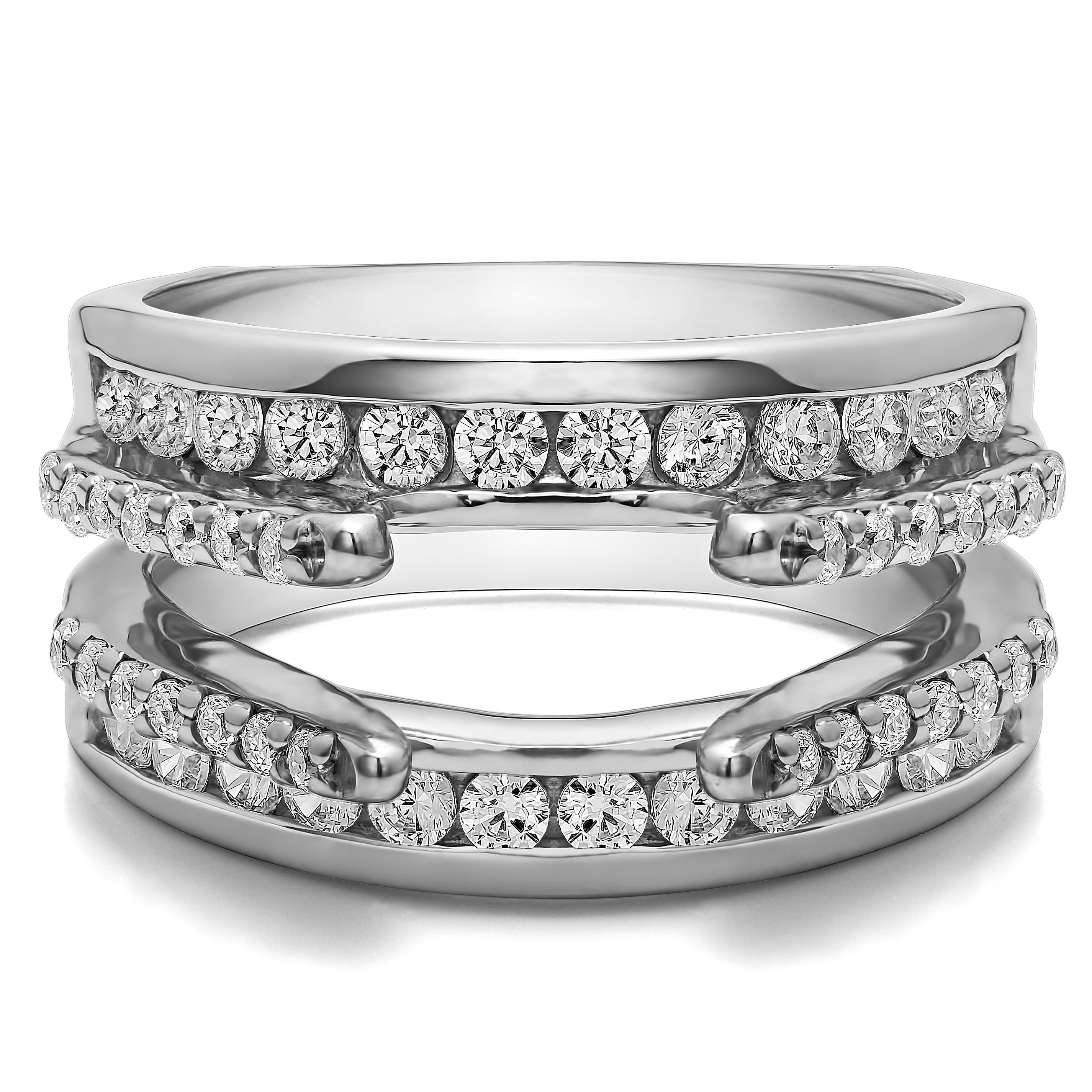 10k Gold 1/2ct TW Diamond Combination Cathedral and