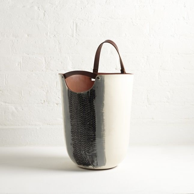 ice bucket with leather straps - Vessel-Silvia-K-Ceramics-The-New-Craftsmen-001