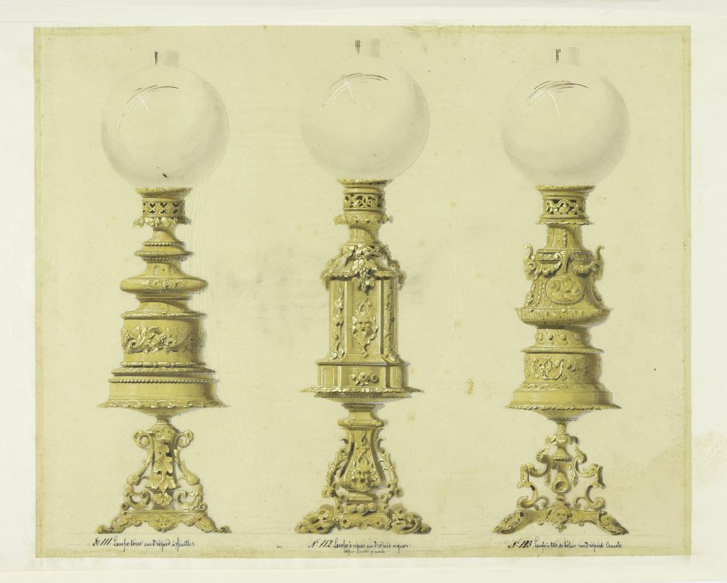 Drawing Design For Three Lamps Ca 1855 In 2020 Design Lamp Doll Backgrounds