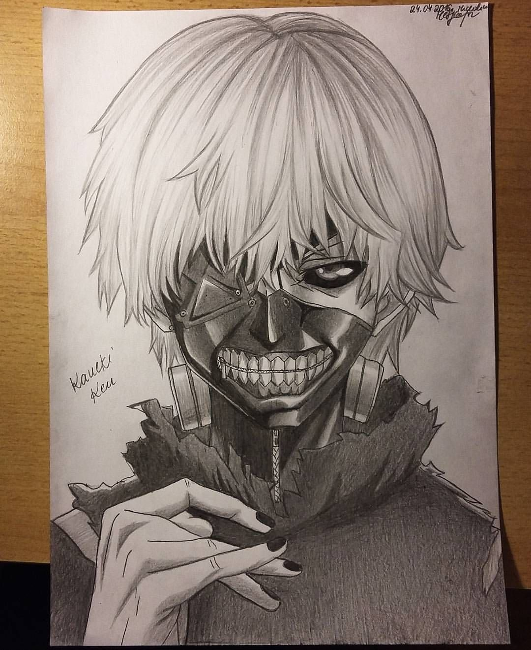 "arteyata on Instagram: ""Done! My drawing of Kaneki Ken, Tokyo Ghoul"