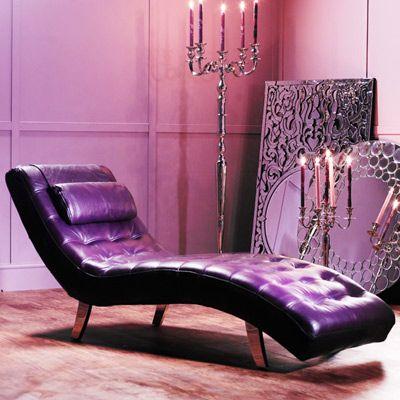 Backless Purple Chaise Lounge Purple Divan Purple Furniture Purple Home Purple Rooms
