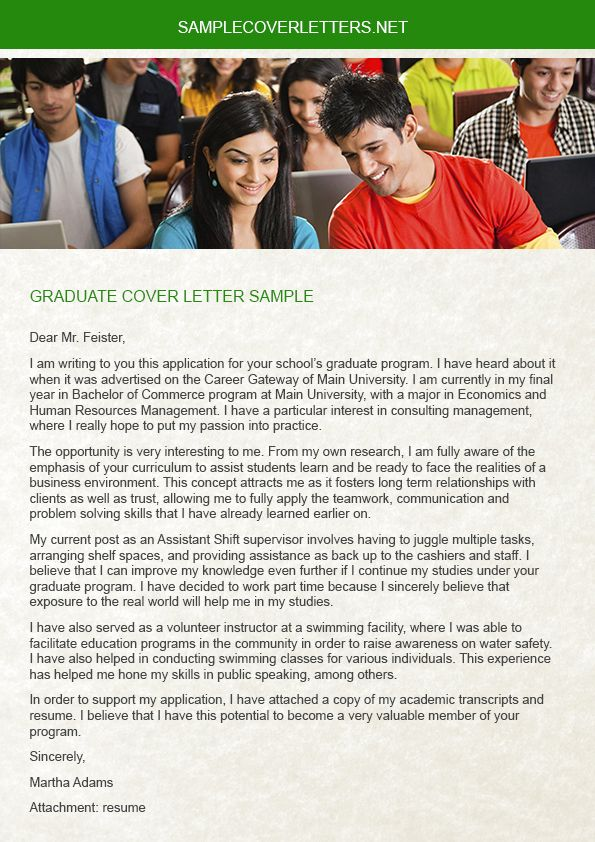 You must need a fresh copy Graduate Cover Letter Sample when you - cover letter job need