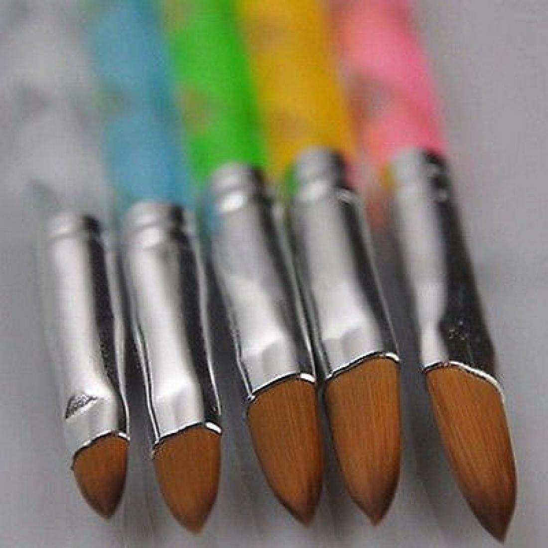 3d Painting Uv Gel Nail Art Brushes Pen Tool 5pcs Acrylic Drawing