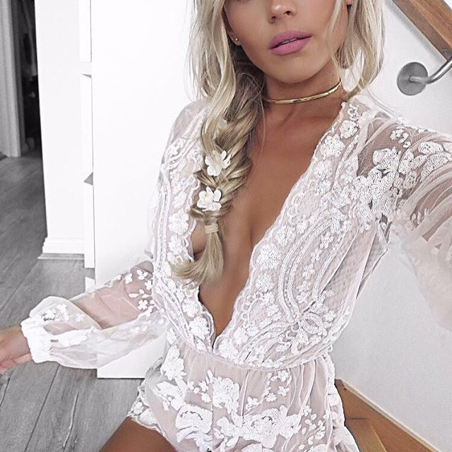 Sparkle through the night in our Sweetness Lace Sequin Romper. Perfect for a night out with the girlfriends or dinner date with BAE. It's classy, fun, comfortable, and sexy! Complete the look with sim