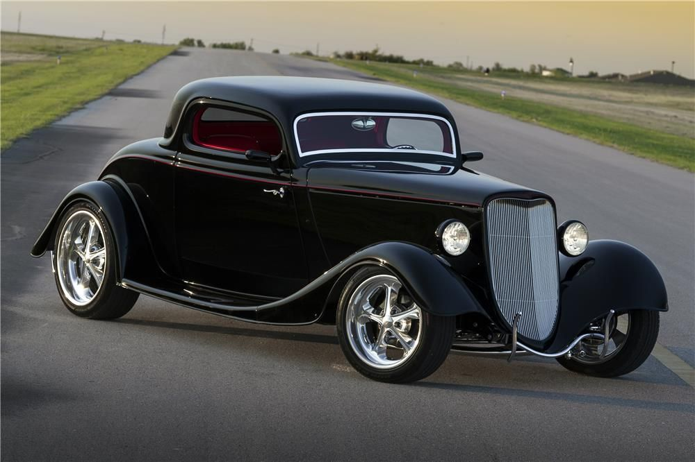 1933 ford 3 window custom coupe barrett jackson auction for 1933 chevy 3 window coupe