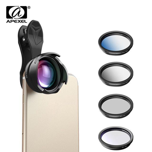 APEXEL phone camera Lens 2.5X telephoto Portrait bokeh