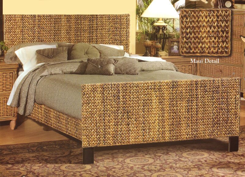 Island Breeze Wicker Beds and Headboards by Seawinds Trading ...