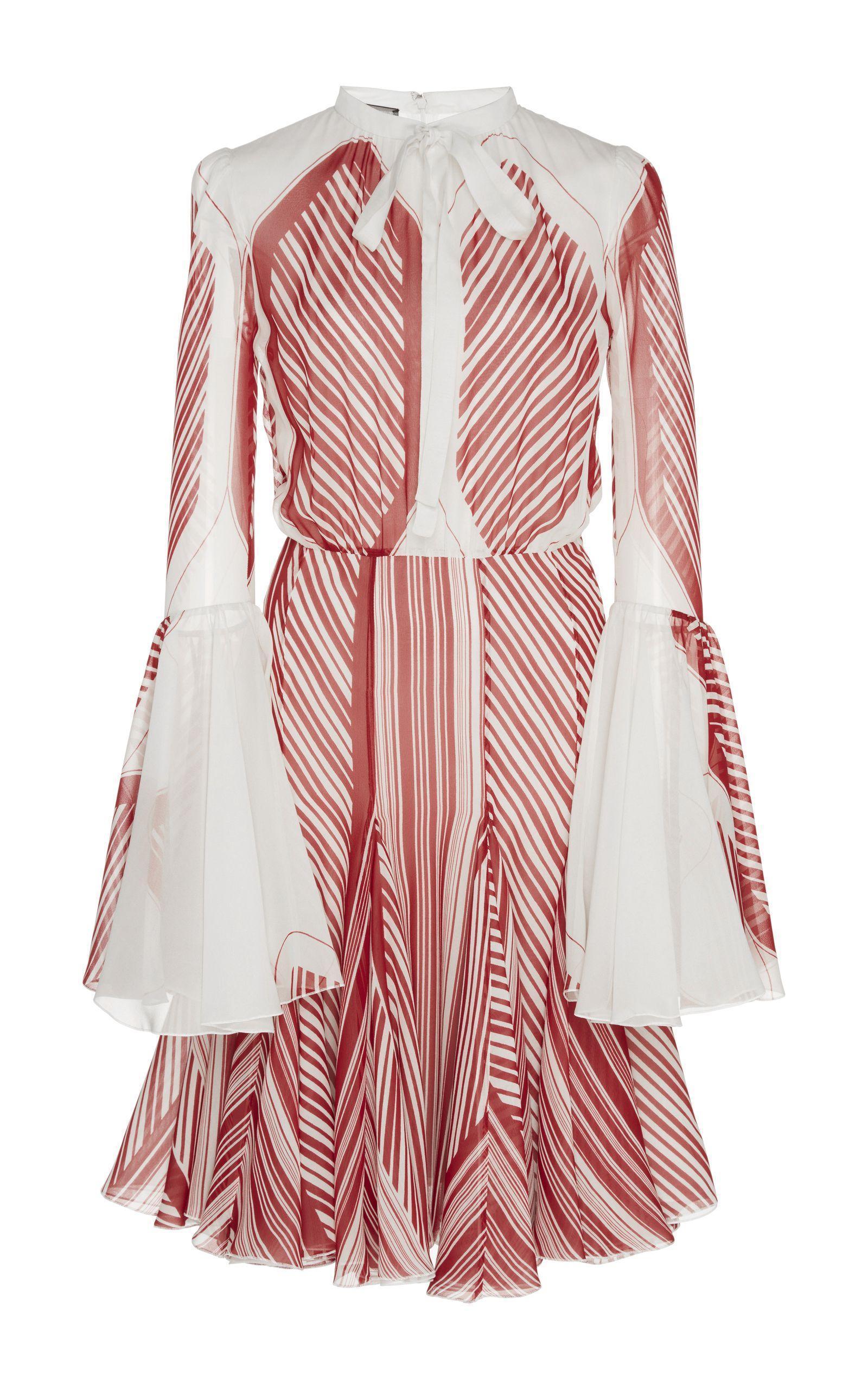 Striped cocktail dress by giambattista valli for preorder on moda