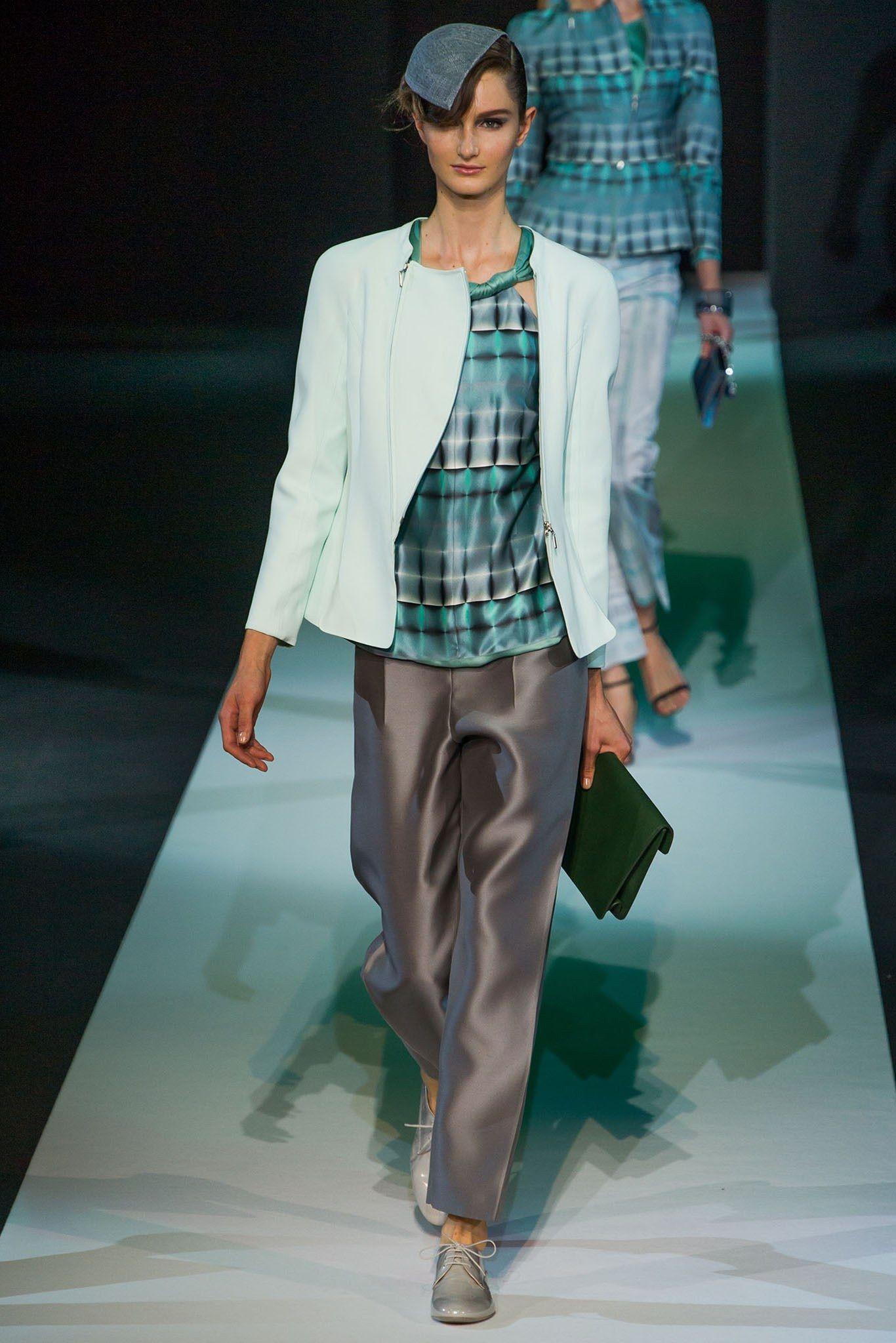 Giorgio Armani Spring 2013 Ready-to-Wear Fashion Show - Mackenzie Drazan
