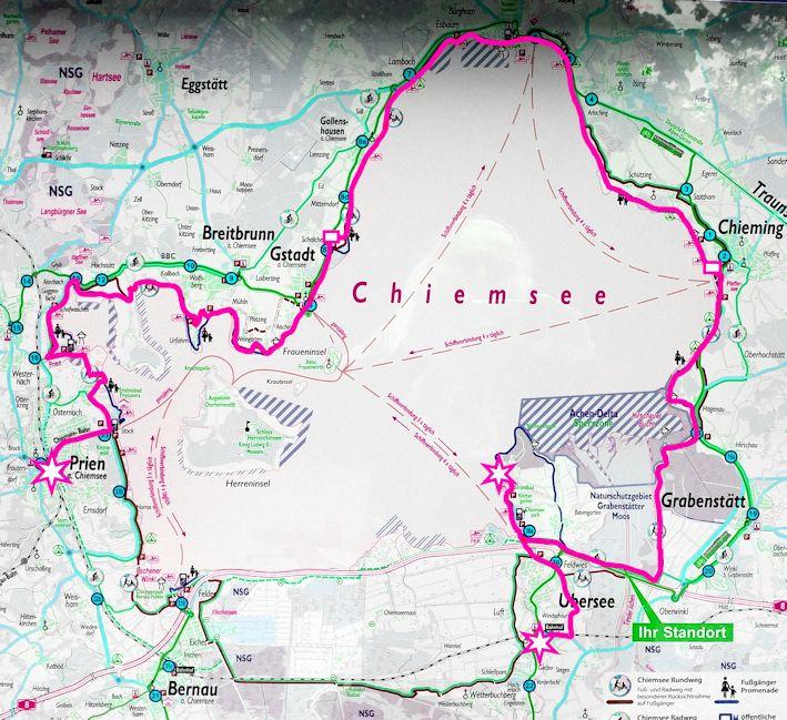Chiemsee Fahrradtour Abenteuer Hochwasser Miss Tiger Fahrradtour Chiemsee Hochwasser