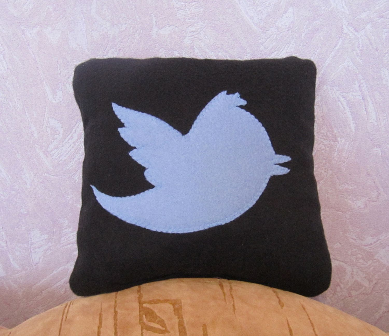 Twitter Pillow 12 X 12 Decorative Pillow Black Geekery Pillow 17 00 Via Etsy Pillows Decorative Pillows Geekery