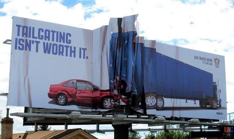 This billboard says it all! Accidents happen, please pay ...