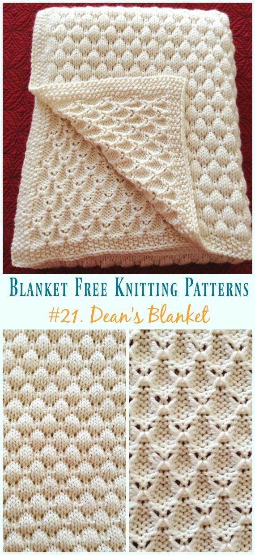 Dean\'s Blanket Knitting Kostenloses Muster – Einfach #Blanket ...