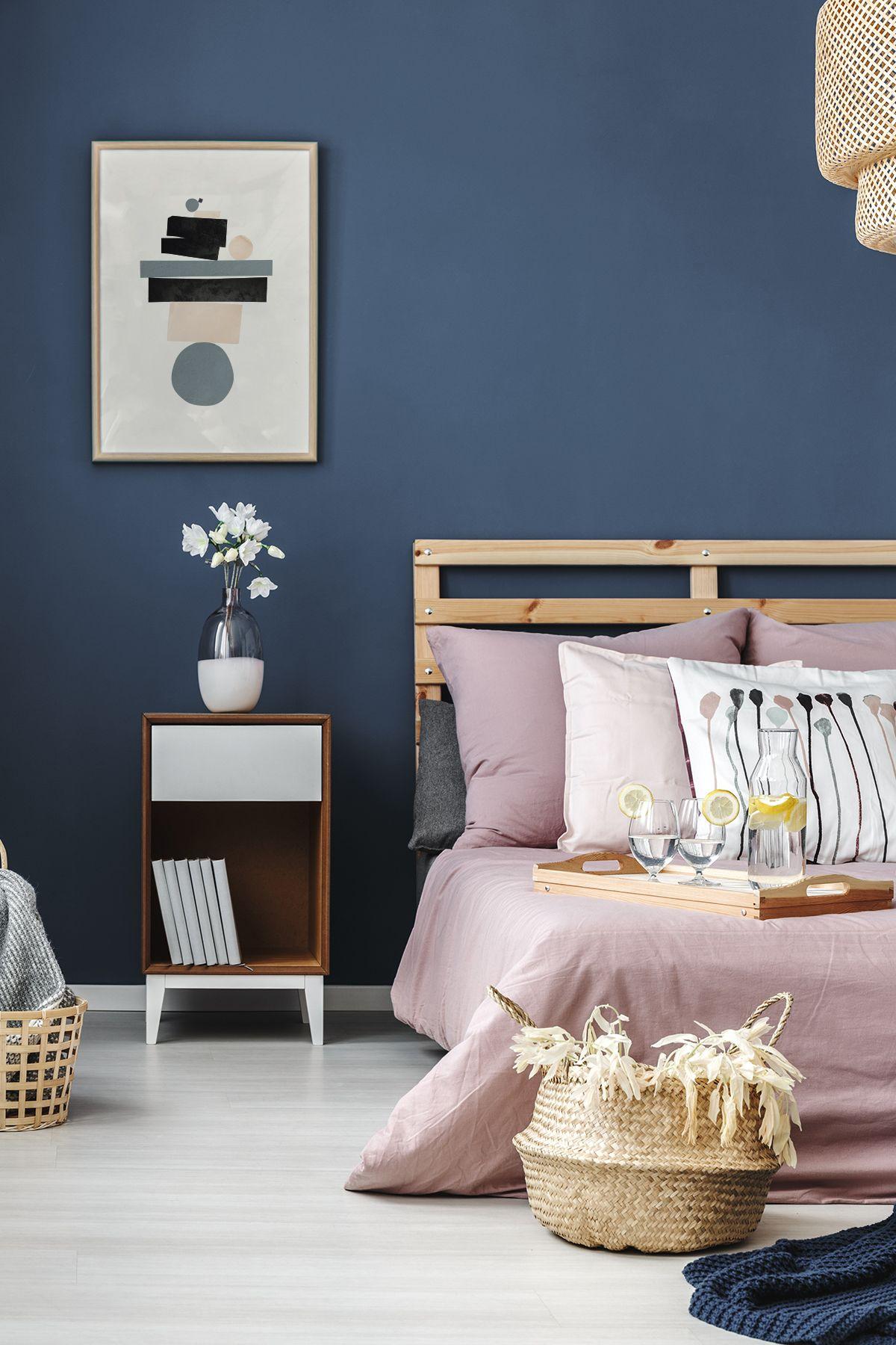Scandinavian Bedroom Minimalist Nordic Style Scandinavian Interior Ideas Home Inspiration Blue Accent Walls Blue Rooms Home Decor